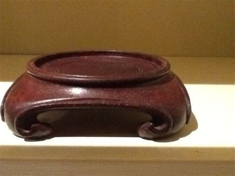 Wooden Carved Stand Pedestal For Vase Or Bowl, Chinese