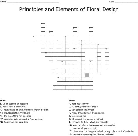 floral design basics techniques worksheet