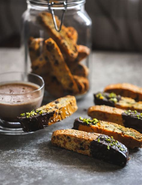 These started out with just almonds and the cranberries and dried apricots got worked in there somehow. Apricot, Pistachio, and Olive Oil Biscotti (With images ...