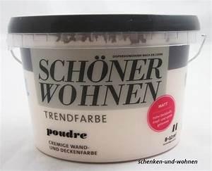 Schöner Wohnen Poudre : sch ner wohnen trendfarben poudre matt 1 l schenken und ~ Markanthonyermac.com Haus und Dekorationen