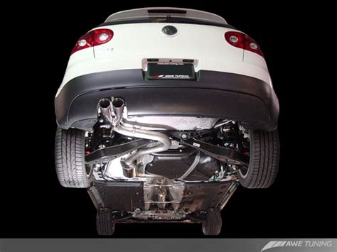 golf 5 gti downpipe 3015 32038 awe tuning mk5 gti cat back exhaust