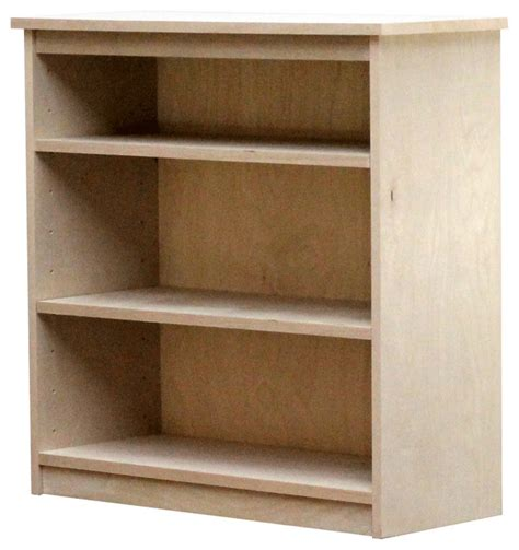 Birch Bookcases by Birch Bookcase With Two Shelves Contemporary