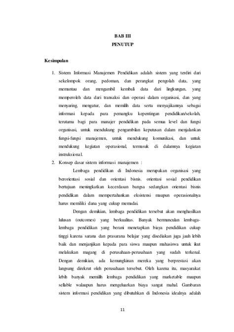 Sistem informasi dalam manajemen pendidikan islam