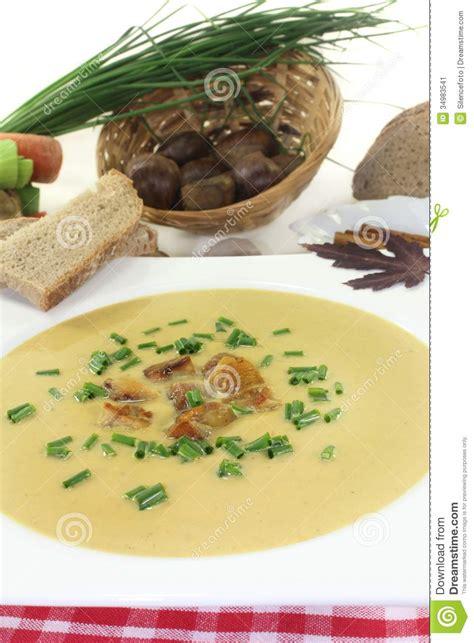 Soppa för söt kastanj fotografering för bildbyråer. Bild ...
