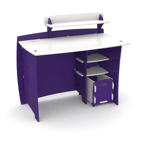 top of desk storage contemprary solid wood teenage computer desk in blue and