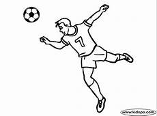 Página para colorear de Jugador de fútbol serio 3