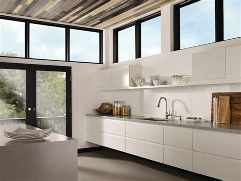 Moen Indi Spacious Modern Galley Kitchen  Contemporary