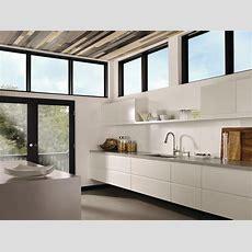 Moen Indi Spacious Modern Galley Kitchen Contemporary