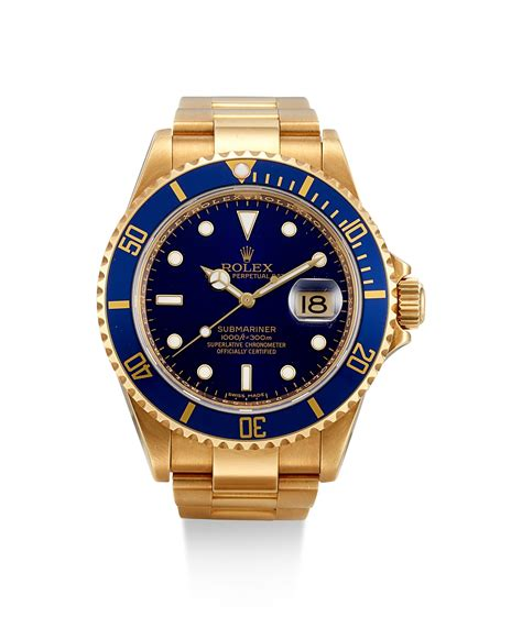 ROLEX | SUBMARINER, REFERENCE 16618 T, A YELLOW GOLD ...