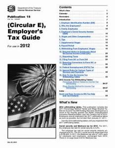 Irs Circular E  Publication 15