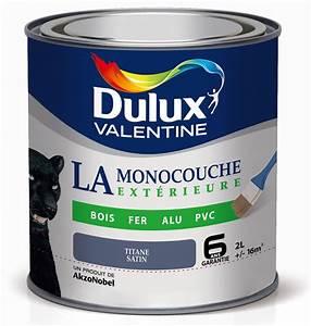 peinture dulux valentine la monocouche exterieure titane With peinture bois et fer