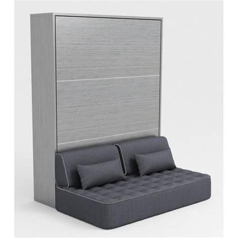 armoire lit escamotable 140x200 gris canapé achat