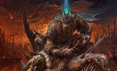 warrior, Artwork, Fire, Armor, Fantasy art Wallpapers HD ...