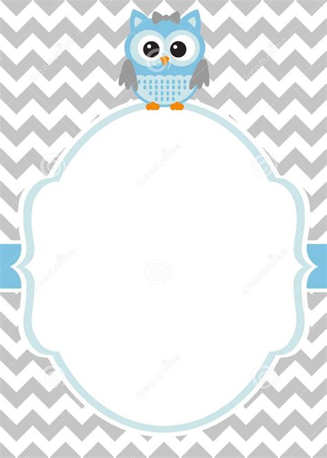 printable baby owl baby shower invitation template