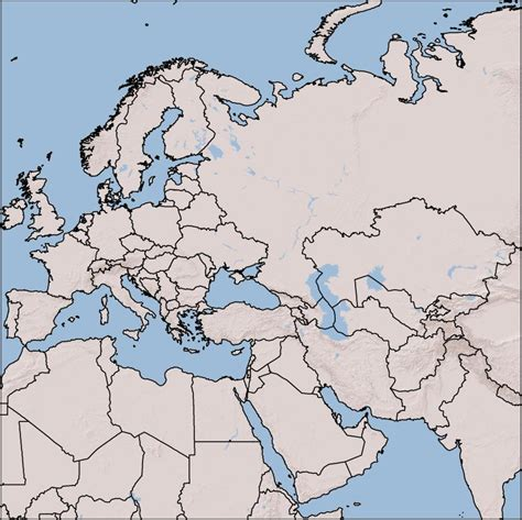 blank map  europe asia  africa  travel information