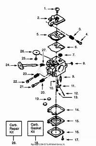 Poulan S25da Gas Saw Parts Diagram For Carburetor Wt