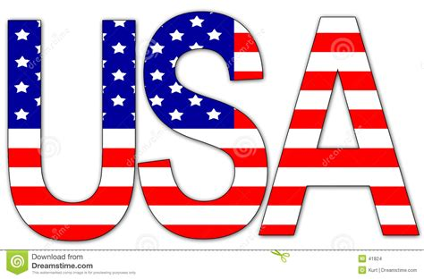 Letter Usa by Usa Text Stock Illustration Illustration Of White