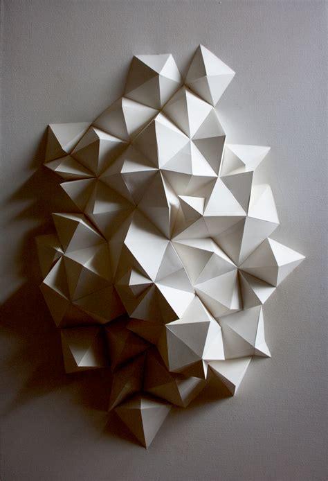geometric paper art  paper  ryan filipski