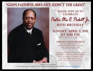 Pastor Birthday Celebration Invitation