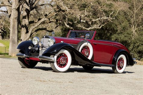 1938, Mercedes, Benz, 540k, Roadster, Red, Classic ...