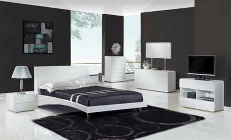 chambre en noir et blanc chambre à coucher moderne 50 idées design
