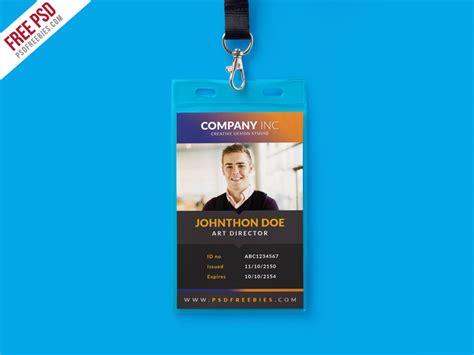 id card design template free creative identity card design template psd