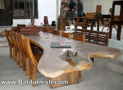 large dining table teak wood furniture bali indonesia