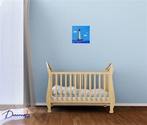 theme deco chambre bebe tableau enfant bébé garçon le phare thème mer décoration