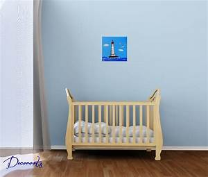 tableau enfant bebe garcon le phare theme mer decoration With chambre bebe garcon theme