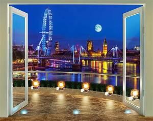 fototapete london skyline panorama walltastic fototapete With markise balkon mit foto tapete london