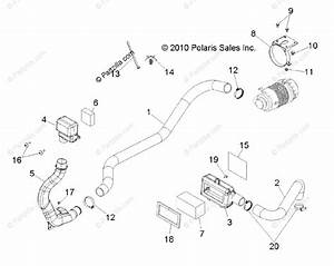 Polaris Side By Side 2011 Oem Parts Diagram For Engine Air