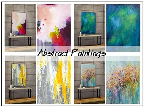 Abstact Paintings In 4 Variations. Found In Tsr Category