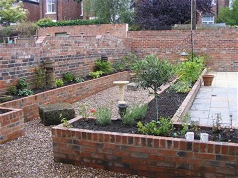 raised beds built of brick gardens