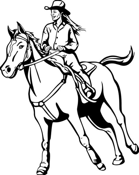 Cowboy Pictures To Color by Coloring Pages To And Print For Free