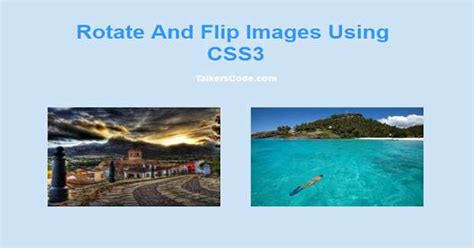 updated rotate  flip images  css