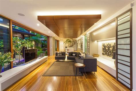 Floating Ceiling Design by Recessed Lighting Floating Wood Ceiling Madeline