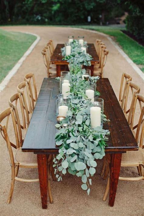 Eucalyptus Runner On Farm Table Wedding Yes Summer
