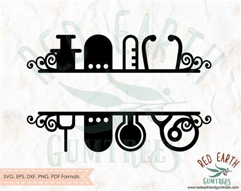 nurse monogram svg split monogram frame split nurse frame stethoscope frame medical split