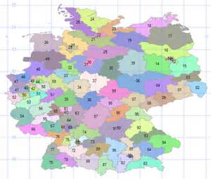 Germany Postal Code Map