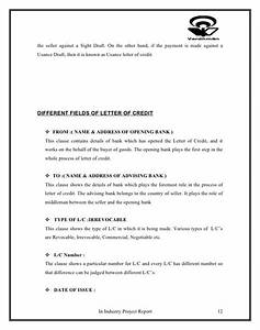 project on letter of credit and working capital With letter of credit draft template