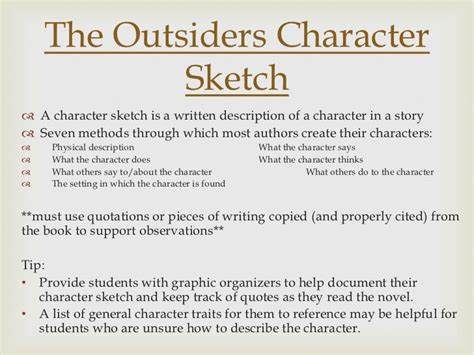 The Outsiders Overview by Character Analysis Essay For The Outsiders Two Bit Character Analysis Copy Slideshare