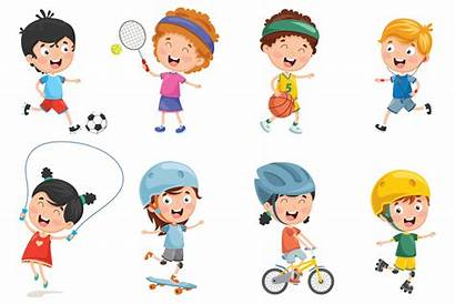 Playing Cartoon Clipart Bambini Machen Kinder Che
