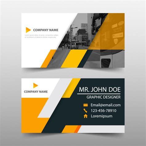 orange business card template design vector