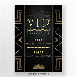 Invitation Card Format For Event Vip Invitation Letter Of Black Business Retro Style