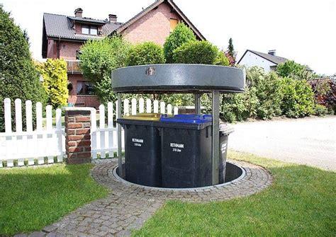 Versenkbare Mülltonnen, Sichtschutz Für Müllbehälter Im