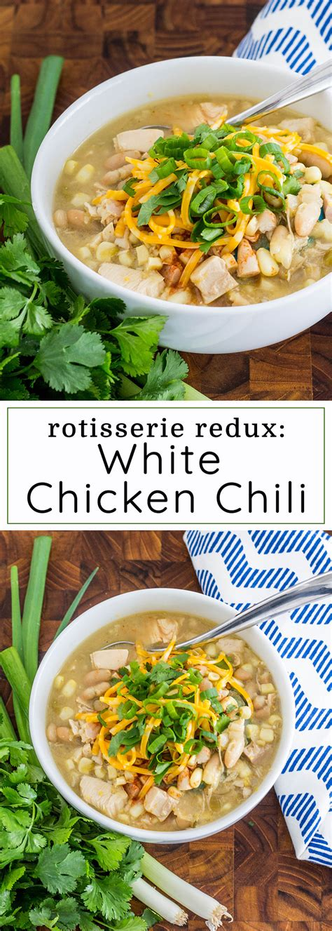 Made with green chile, chicken, corn and blended chickpeas to make it thick and creamy. The Best White Chicken Chili Rotisserie - Best Round Up ...