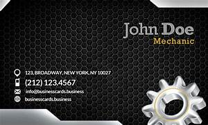 Free mechanic business card template business cards for Mechanic business cards templates free