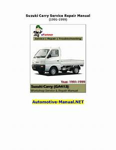 Suzuki Carry Service Repair Manual 1991