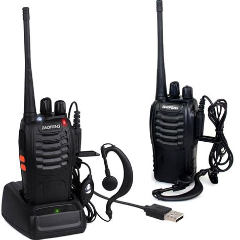 range walkie talkies 20 2x baofeng walkie talkie range 2 way radio uhf 400 470mhz 16ch earpiece uk eur 20 73
