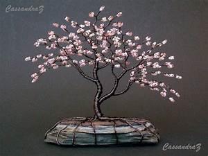 Sakura Baum Kaufen : asymmetrische kirschbl te perlen bonsai mini wire von cassandraz basteln pinterest baum ~ Frokenaadalensverden.com Haus und Dekorationen